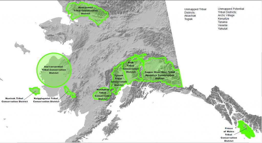 Alaska Tribal Conservation Districts Map
